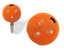 Smart 3Tasten Schlüssel Silikon Hülle 450 452 Fortwo Key chiave cle   Orange