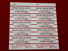 Mel Carter~ Hold Me Thrill Me Kiss Me~ A Sweet Little Gir~ Jukebox Title Strips