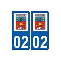 02 Ribemont logo ville autocollant plaque sticker droits