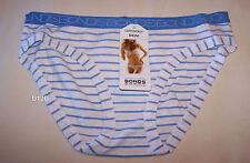 Bonds Ladies Blue White Stripe Print Cottontails Bikini Brief Size 10 New