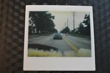 Unusual Vintage Kodak Instant Photo Rear Window View of Car Following Behind 871