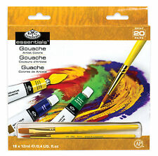 Royal Brush Artist Paint 18 PC 12ml Tubes Assorted Colour Set Gouache