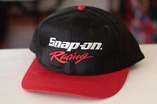 Rare Vtg Snap On Racing Script Logo Trucker Snapback Hat Cap