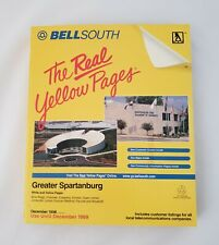 Vtg Yellow Pages Telephone Phone Book 1999 Greater Spartanburg BMW ZENTRUM Cover