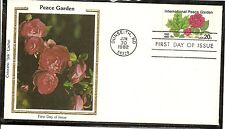 US SC# 2014 Peace Garden FDC. Colorano Silk Cachet.