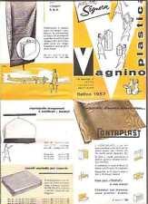 VAGNINO TORINO PLASTICA 1957 ABBIGLIAMENTO BIANCHERIA CASALINGHI CONTAPLAST