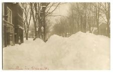 RPPC Puron Gas Station & Pump in Winter, Oneonta, New York c1920 Photograph