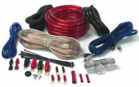 NEW AMP KIT 2000 WATT 4 GAUGE POWER WIRE WIRING KIT INSTALL CAR SYSTEM AMPLIFIER