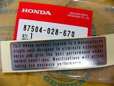 Honda CB 750 Four  K0 - K6 Aufkleber Auspuff Kettenschutz neu