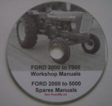 FORD 2000 - 7000 TRACTOR Workshop/Spares/Operations CD