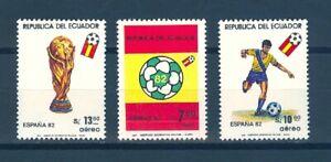 ECUADOR SC# C723-C725 WORLD SOCCER CHAMPIONSHIP - ESPANA 1982 - MNH