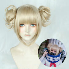 My Boku no Hero Academia Himiko Toga Short Linen Golden Blonde Cosplay Hair Wig