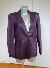 luxueuse veste cuir d'agneau violet KRISTINA POPOVITCH taille 40 ** TRÈS RARE **