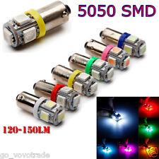 1 Pcs White Blue Car BA9S LED Bulbs 12V Car Drove Cars 5 5050 5 SMD LED LightA