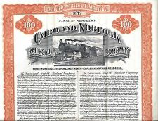 CAIRO AND NORFOLK RAILROAD COMPANY...EARLY 1900'S MORTGAGE GOLD BOND