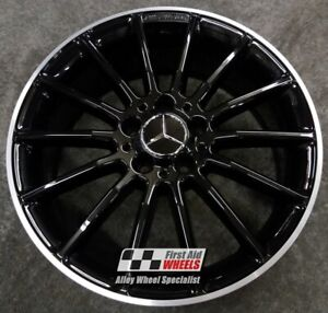 "R412DCB Exchange MERCEDES A CLASS W176 CLA 4X 18"" GENUINE AMG BLACK ALLOY WHEELS"