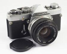 Olympus OM-1n SLR camera Olympus Zuiko MC Auto-S F/1.8 50mm serviced