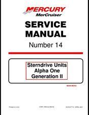 Mercury MerCruiser #14 Sterndrives - Alpha One Gen Service Repair Manual On CD