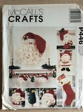 McCall's Crafts Pattern P446, New Uncut, Wall Hanging, Stockings, Christmas