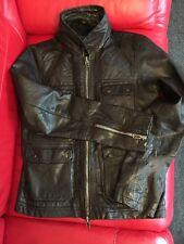 ALL SAINTS Mens HABANERO Leather Jacket BLACK size X-Large EXCELLENT CONDITION