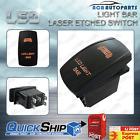 LED LIGHT BAR Rocker Switch Laser Etched Dual LED ORANGE ARB Carling 12V 24V