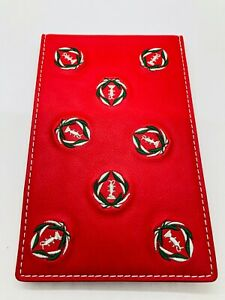 Muirfield Village Golf Club Red Leather Members Only Embroidered Yardage Book