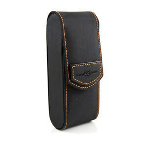 Edwin Jagger - Black Textured Travel Razor Case in Gift Box