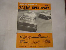 1973 SALEM SPEEDWAY OFFICIAL RACING PROGRAM - NICE - TUB BN-9