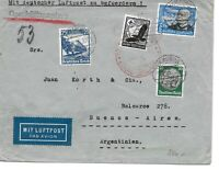 GERMANY POSTAL HISTORY REICH AIRMAIL COVER ADDR ARGENTINA SPECIAL CANC YR'1935