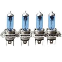 4X H4 Xenon Car Headlight Globes Halogen Bulbs 4000K 55W 12V Super White Lights