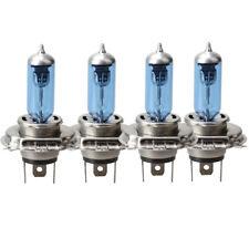 4x H4 12V 55/60W Xenon White 4000k Halogen Blue Car Head Light Lamp Globes Bulbs