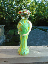 """Vintage Murano Art Glass 10"""" Person Shaped Figure Asian Chinese Sleek Smooth"""