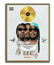 Migos Poster, CULTURE IIIGOLD/PLATINIUM CD, gerahmtes Poster HipHop Rap WallArt