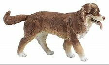 Australian Shepherd Dog Figurine Pet Brown & White Papo Toy Collectible New .
