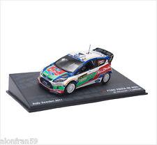 VOITURE MINIATURE RALLYE FORD FIESTA RS WRC - IXO 1/43 M.HIRVONEN- fRAL002