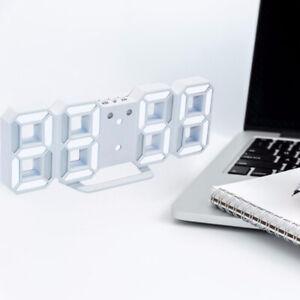 3D Modern Digital LED Wall Clock 24/12 Hour Display Timer Alarm Home TOP ONE