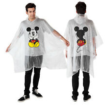 Disney Mickey Mouse Waterproof Rain Poncho - Adult Unisex