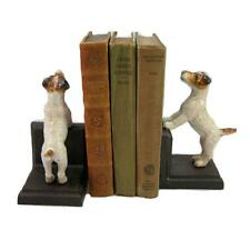 JACK RUSSELL CAST IRON BOOKENDS Collectable Heavy Fox Terrier Dog Book Ends NEW
