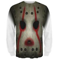 Halloween Horror Movie Hockey Mask Costume All Over Mens Long Sleeve T Shirt