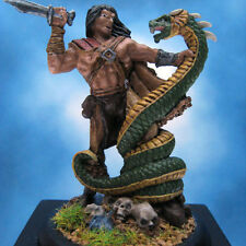 Painted Darksword Miniature Barbarian with Snake