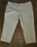 NWT! 52 X 30 NICE GEOFFREY BEENE MEN'S KHAKI EASY CARE, FLAT FRONT, PANTS CHINOS