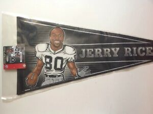 2002 wincraft collector player pennant jerry rice raiders
