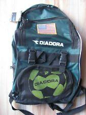 Diadora Squadra Backpack Hunter Green w/ USA flag patch Soccer Calcio Futbol