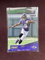 2018 Panini Playoff Lamar Jackson Rookie Card Green Goal Line Parallel #212