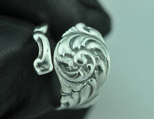 Beautiful 925 Sterling Silver Flower Spoon Ring