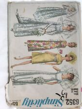 6352 Simplicity 60's Wedding Dress With Train Evening Sewing Patterns 12 32 Bust