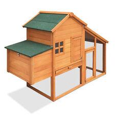 Chicken Coop Rabbit Hutch Guinea Pig Ferret Cage Hen House 2 Storey Run 171cm