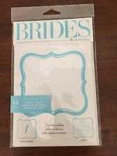 Wedding Printable Table cards by Brides Magazine 24 Cards, 2 Packages NEW