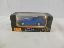 Maisto 11001 Dodge Viper Coupe Blue with white stripes scale 1:64 Boxed 2001