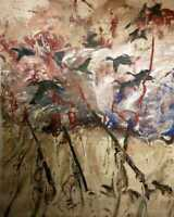 DUCK HUNTING painting on canvas ¨The hunting post¨- Signed!